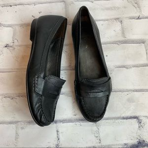 Cole Haan classic black leather loafers